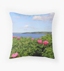 Melmerby Beach Wild Rose Throw Pillow