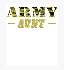 Army Aunt - Proud Army Aunt T-Shirt Photographic Print
