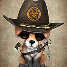Baby Fox Zombie Jäger von jeff bartels