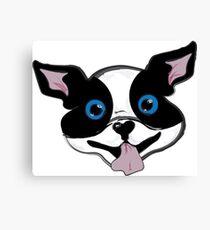 Boston Terrier Puppy Canvas Print