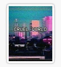 Cruel world aesthetics Sticker