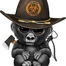 Baby-Gorilla-Zombie-Jäger von jeff bartels