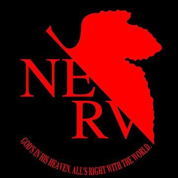 Neon Genesis Evangelion - NERV Logo by AniPop