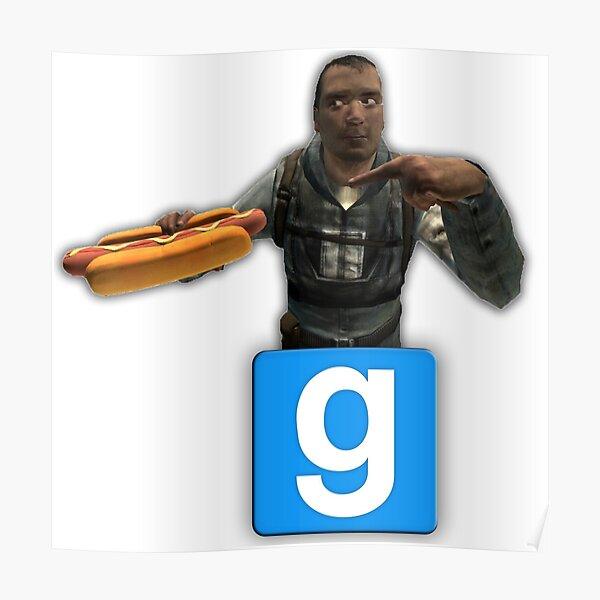 Garry's Mod Hotdog Poster
