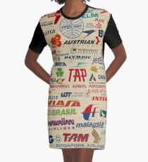 AIRLINES Graphic T-Shirt Dress