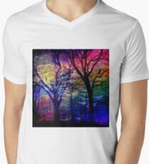 Fairy Tale Forest Mens V-Neck T-Shirt