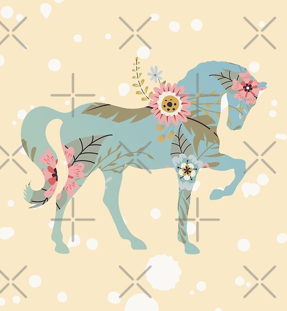 Floral Horse by Lenore Locken