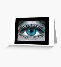 Blue Eye Mirror Greeting Card