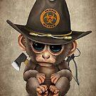 Baby-Affe-Zombie-Jäger von jeff bartels