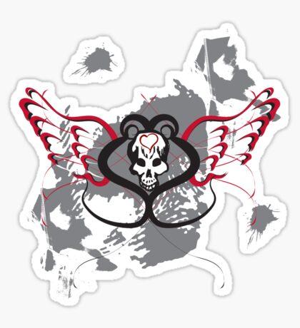 Winged Heart Skull Sticker