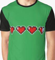 Pixel Hearts Graphic T-Shirt