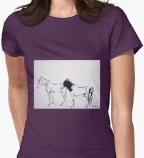 Caballos V by Enrique Arnal Womens Fitted T-Shirt