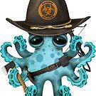 Blauer Baby-Kraken-Zombie-Jäger von jeff bartels