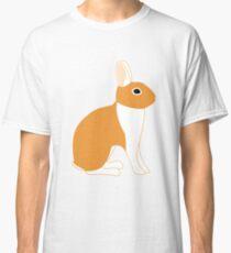 Orange White Eared Rabbit Classic T-Shirt