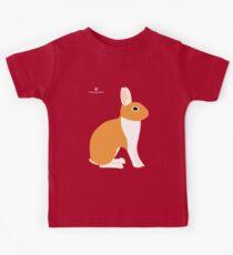 Orange White Eared Rabbit Kids Tee
