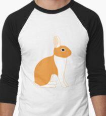 Orange White Eared Rabbit Men's Baseball ¾ T-Shirt