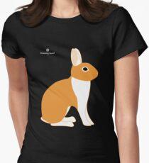 Orange White Eared Rabbit T-Shirt
