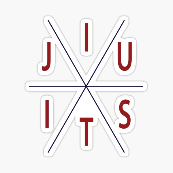 Jiu Jitsu Circle MMA BJJ Apparel Sticker