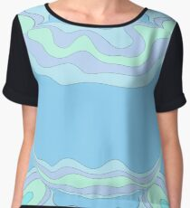 Psychedelic Marble Chiffon Top