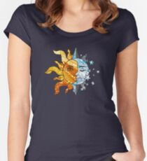 The Sun, The Moon, and The Stars Women's Fitted Scoop T-Shirt
