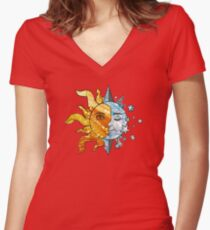 The Sun, The Moon, and The Stars Women's Fitted V-Neck T-Shirt