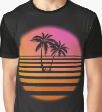 Neon Tropics - No Grid Graphic T-Shirt