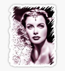 Hedy Lamarr old color theme Sticker
