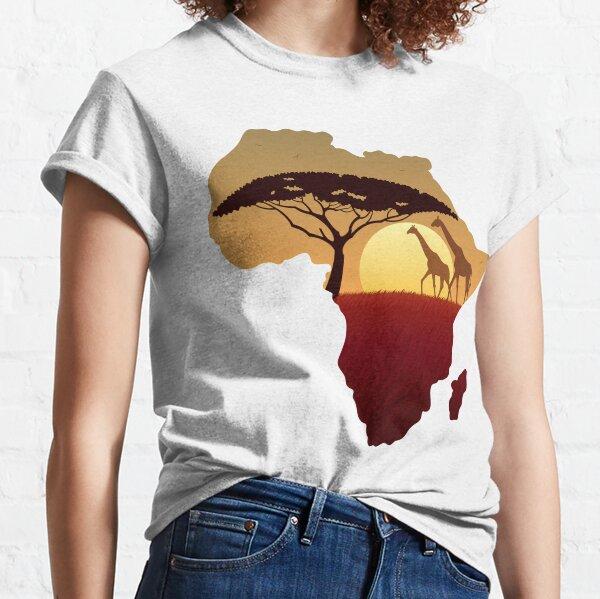 Africa Map Landscape Classic T-Shirt