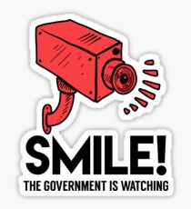 Smile! Government is Watching Sticker