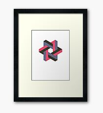 Unified Penrose Triangle Framed Print
