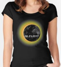 Circle Total Solar Eclipse Celestial Fanatic Women's Fitted Scoop T-Shirt
