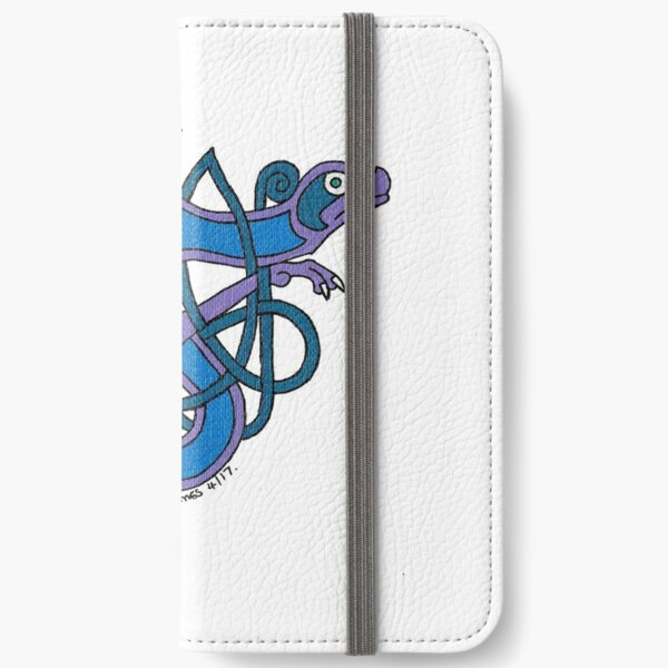 Celtic Beast letter T iPhone Wallet