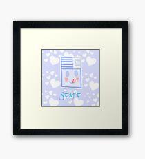 Kawaii floppy disk Framed Print