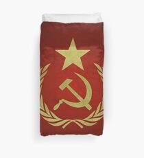 Hammer & Sickle Star Flag (Communist) Duvet Cover