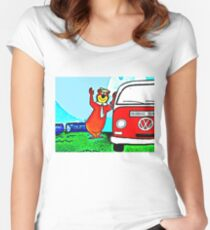 Yogi's VW Camper Women's Fitted Scoop T-Shirt