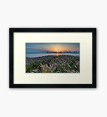 Sunset on Downtown Dubai Framed Print
