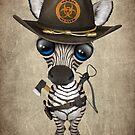 Babyzebra-Zombie-Jäger von jeff bartels