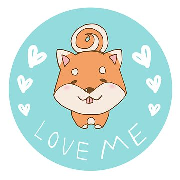 LOVE ME Shiba Inus dog by hope30789