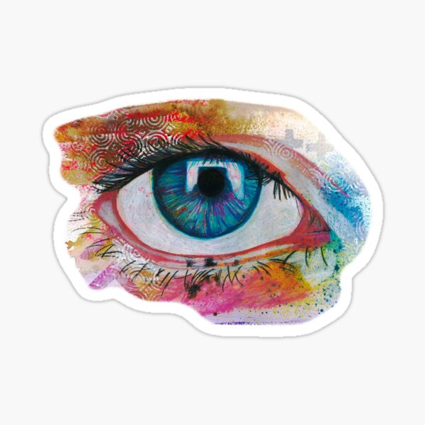 Mixed Media eye Sticker