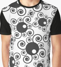 Abstract spirals & spheres pattern Graphic T-Shirt
