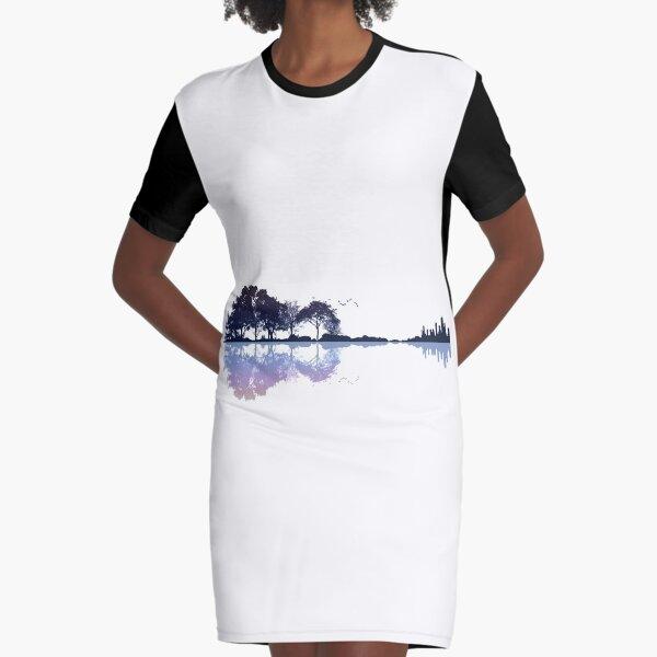 Nature Guitar Graphic T-Shirt Dress