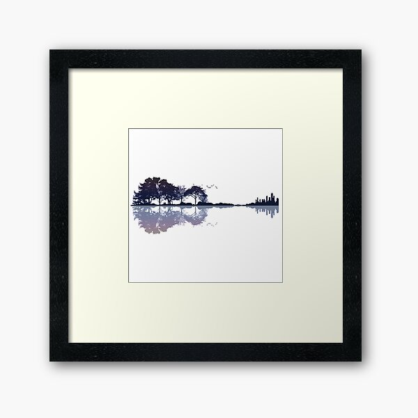 Nature Guitar Framed Art Print
