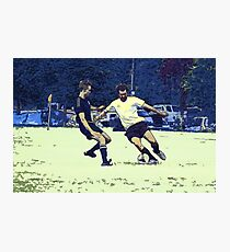 The Challenge - Soccer Players Photographic Print