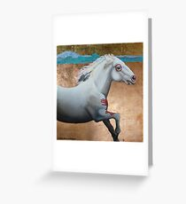 "Native American Pony --- ""The Fallen Hero"" Greeting Card"