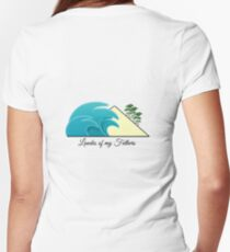 Landes of my Fathers - Dos Women's Fitted V-Neck T-Shirt