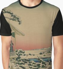 Teahouse at Koishikawa - Japanese pre 1915 Woodblock Print Graphic T-Shirt
