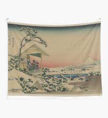 Teahouse at Koishikawa - Japanese pre 1915 Woodblock Print Wall Tapestry