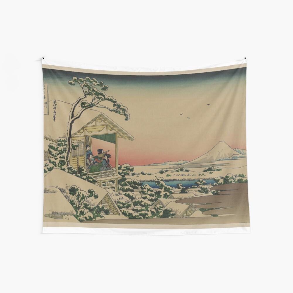 Teehaus bei Koishikawa - Japaner vor 1915 Woodblock Print Wandbehang
