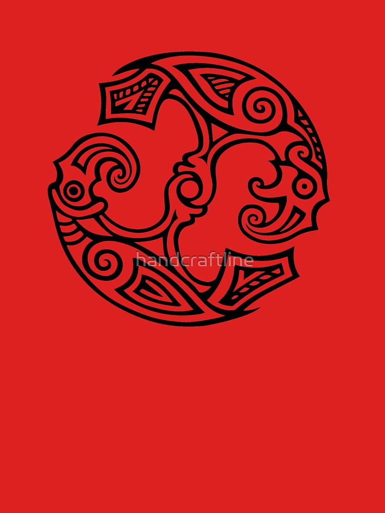Odin's Ravens, Huginn and Muninn by handcraftline