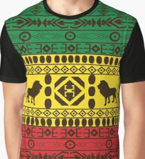 African Traditional Pattern Lions big rasta  Graphic T-Shirt